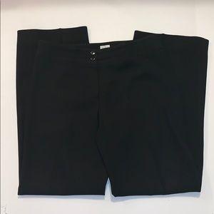 Armani Collezioni Black Wide Leg Pants